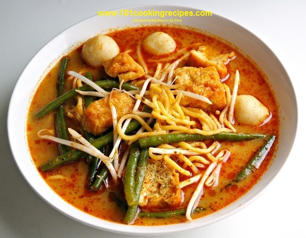 Tean's Gourmet Malaysia Cooked Curry Laksa Noodle Soup
